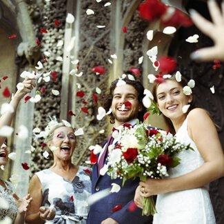 people on wedding travel