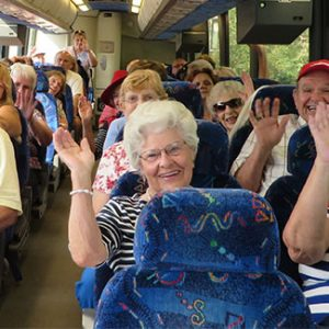 Senior Club charter bus rental